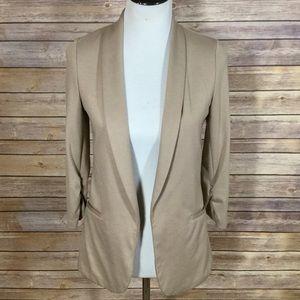 Bar III Camel or Tan Open Jacket Blazer